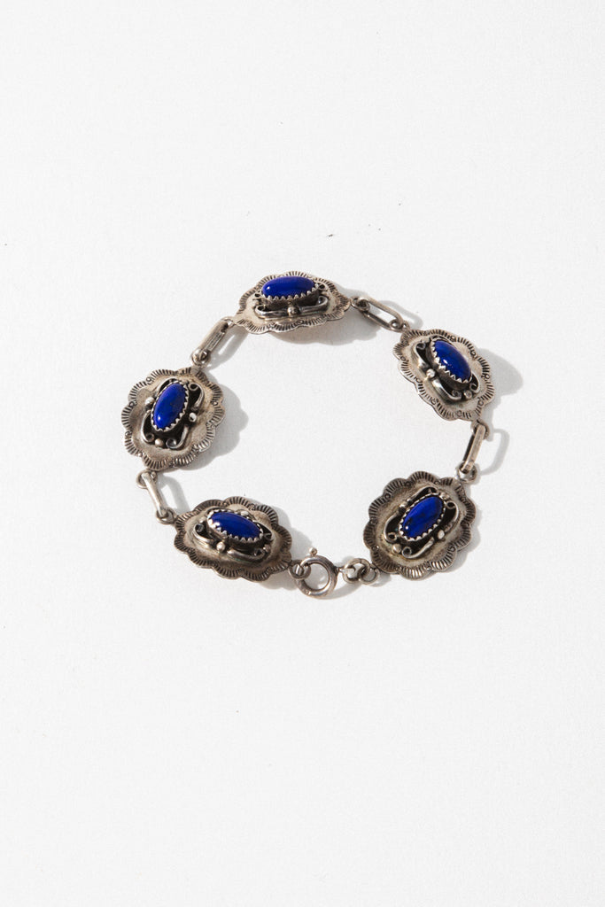 Vintage Native American Jewelry Silver Lovers of the Night Vintage Bracelet