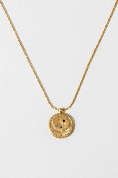 Temple of the Sun Test Gold Celeste Necklace