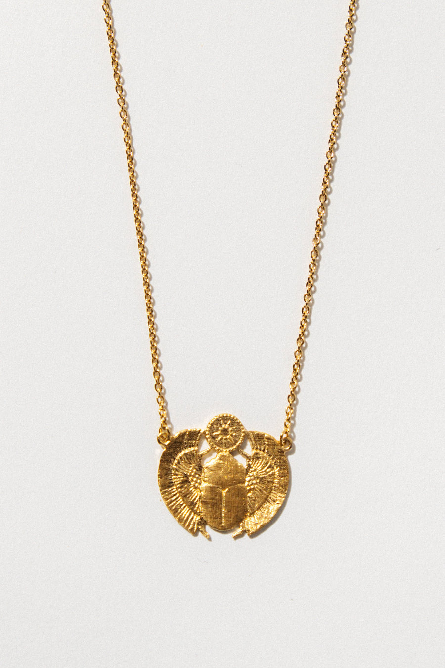 Temple of the Sun Jewelry Gold Scarab Necklace