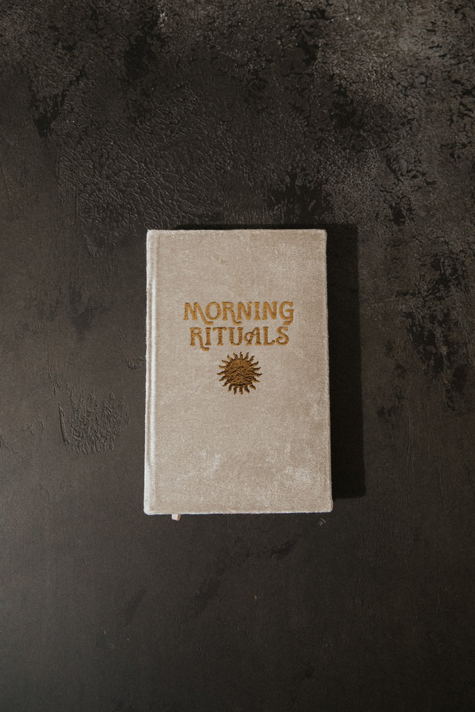 Printfresh Objects Grey / FINAL SALE Morning Rituals Velvet Journal