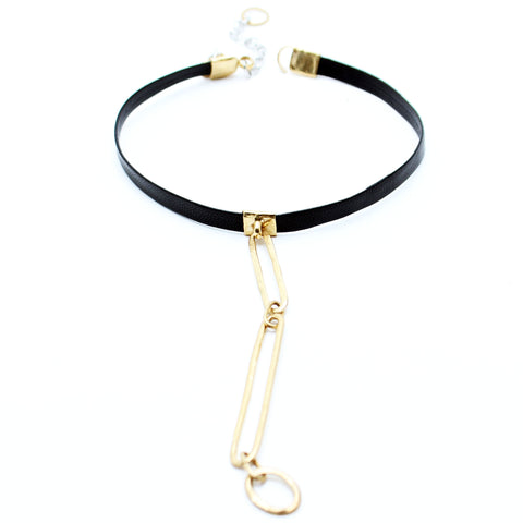 Trazo Leather Choker