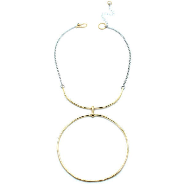 Luiny Jewelry Brass / 14 Inches El Sol Collar