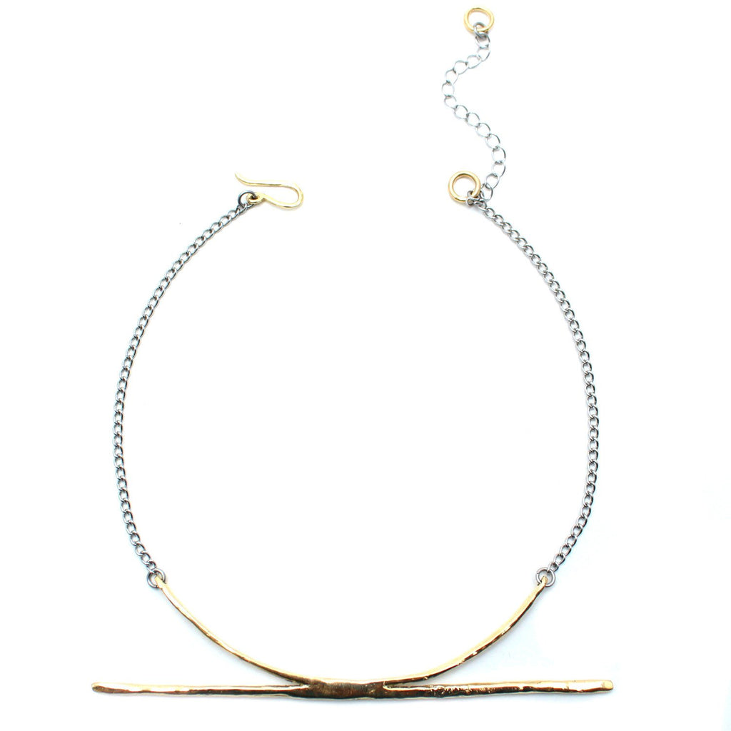 Luiny Jewelry Brass / 12 Inches El Horizonte Collar