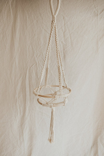 bloomingville Objects White / FINAL SALE Cotton Macrame Plant Hanger