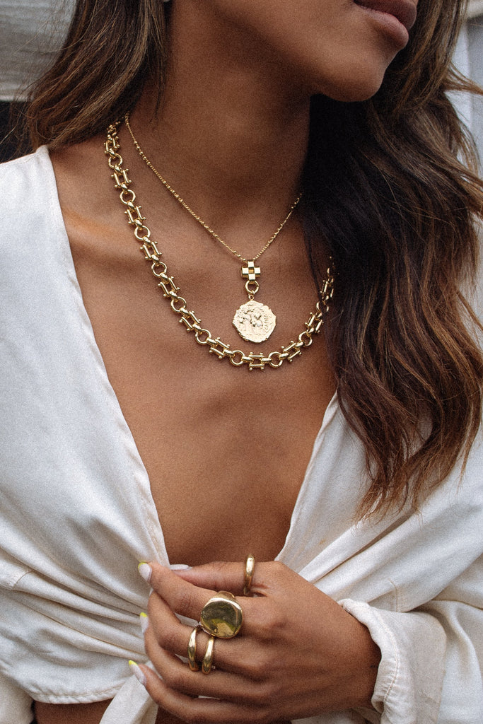 Goddess Jewelry 18 Inches / Gold Luigi Necklace