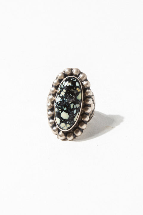 Vintage Native American dead stock Silver / US 7 Turquoise Hilltops Native American Ring