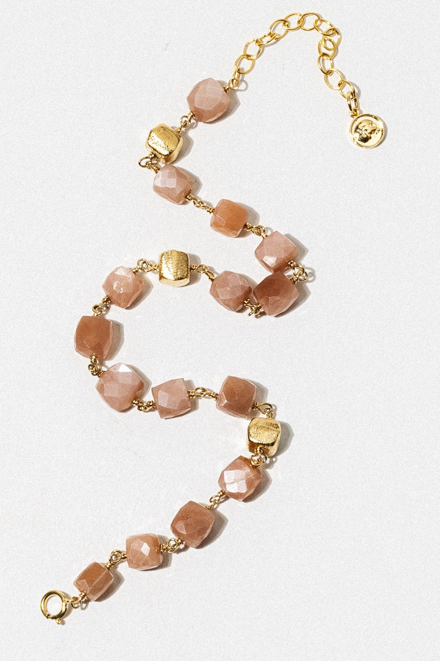 Goddess Jewelry Gold / Peach Moonstone aCW007