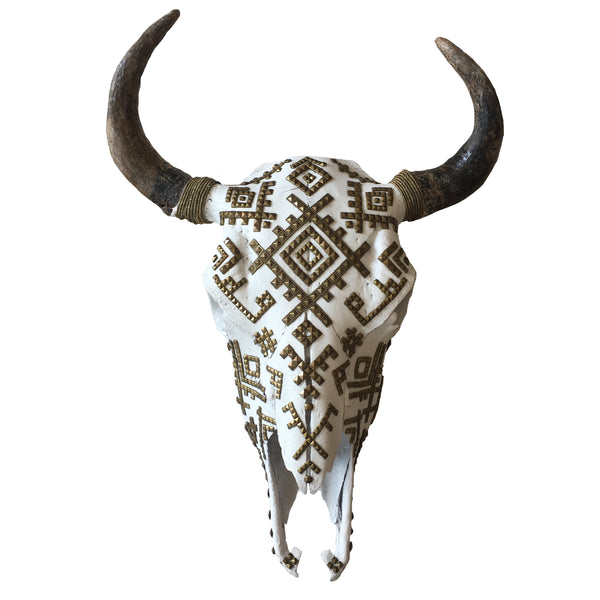 Child of Wild Bones White Berber Tribes Buffalo Skull