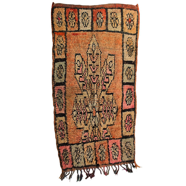 Morocco Objects 5 ft. 5 in. x 2 ft. 8 in. / Multi / FINAL SALE Oujda Moroccan Shag Weaving