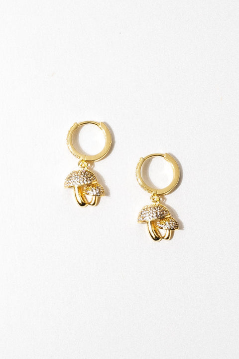 Aimvogue Jewelry Gold Psychedelic Journey Earrings