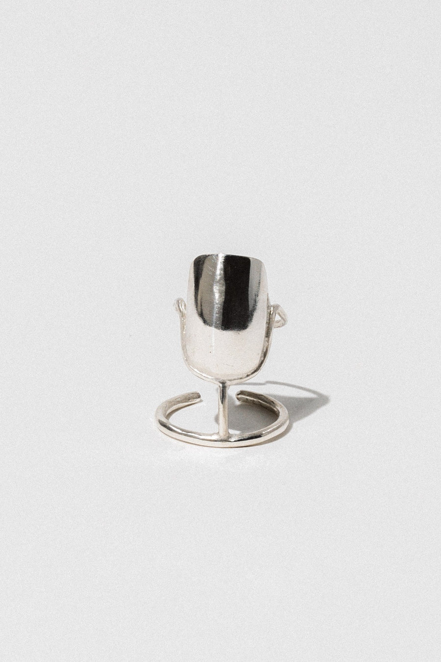 Aziza Handcrafted Jewelry Open Size / Silver Bastet Ring