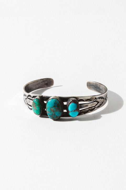 Sunwest Jewelry Turquoise Riders of the Storm Cuff