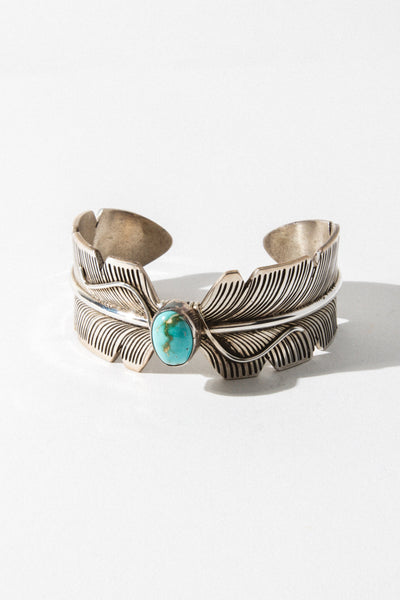 Sunwest Jewelry Turquoise Wings of Feather Cuff