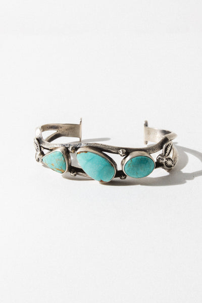 Majul Jewelry Jewelry Clean Blue Turquoise Sound of Silence Native American Cuff