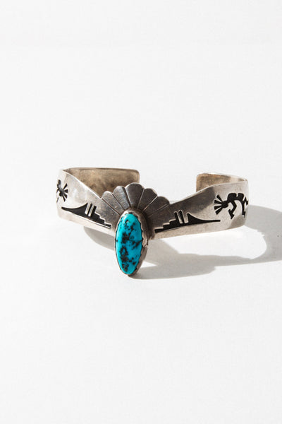 Vintage Native American Jewelry Silver Taken by the Sky Vintage Cuff