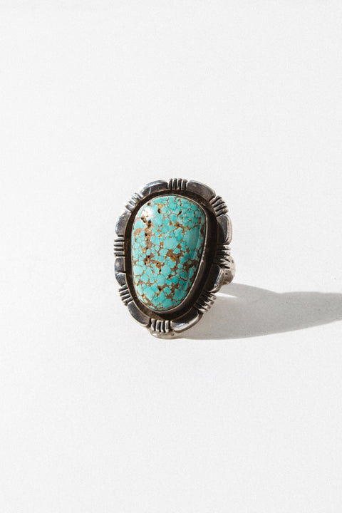 Child of Wild Jewelry Turquoise / US 8 Messenger Native American Ring