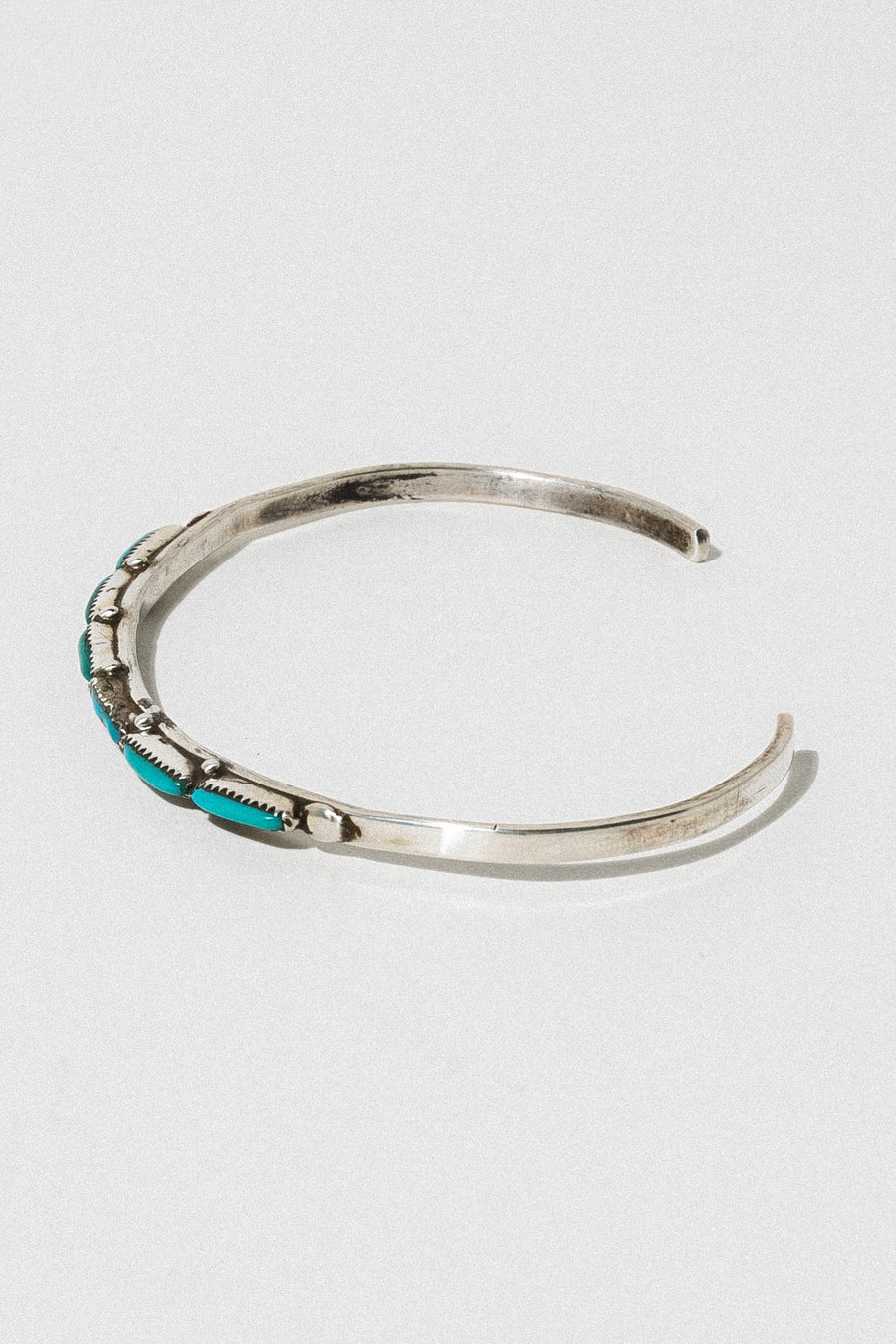 Ayman Jewelry Silver / Turquoise Blue Hour Antique Zuni Cuff