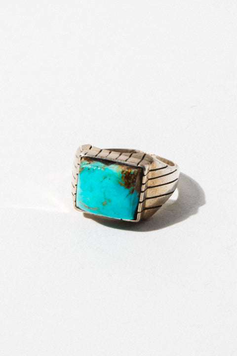 Child of Wild Mens Jewelry US 12 / Silver Vintage Turquoise Native American Ring