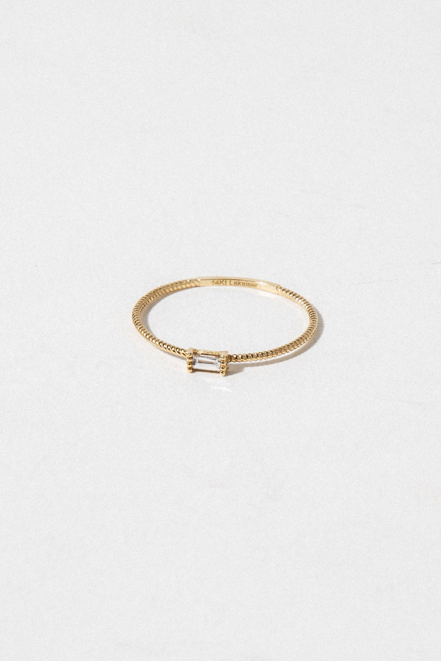 LA KAISER Jewelry Golden Grace Twist Ring