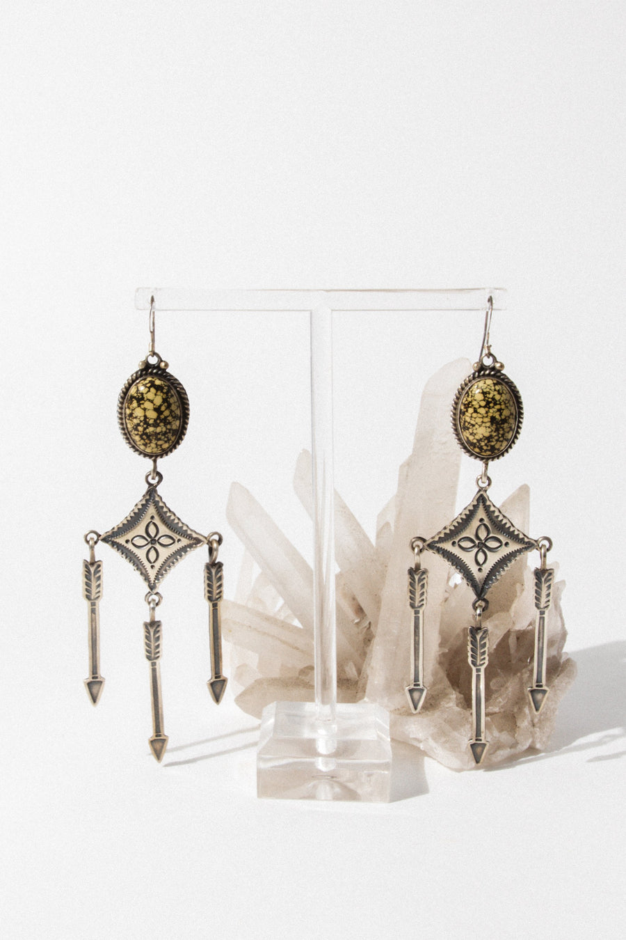 Sunwest Jewelry Spinning Arrow Earrings