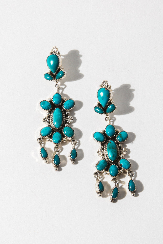 Sunwest Jewelry Turquoise Stargazer Turquoise Earrings