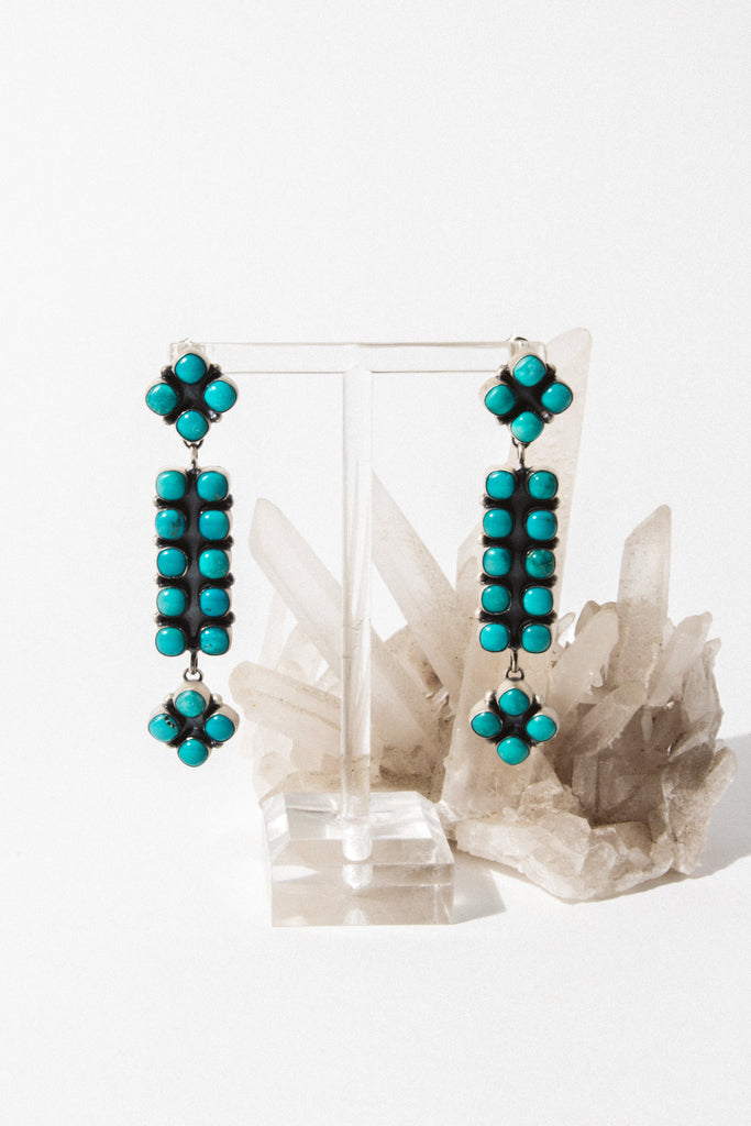 Sunwest Jewelry Turquoise Open Road Turquoise Earrings