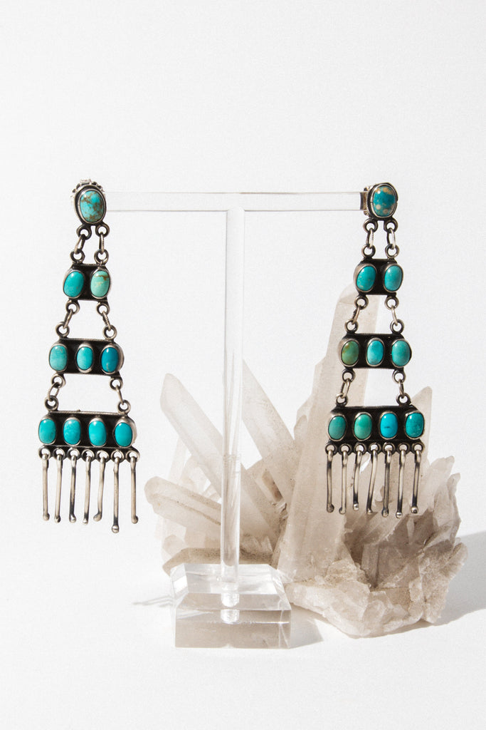 Sunwest Jewelry Turquoise Summer Storm Turquoise Earring