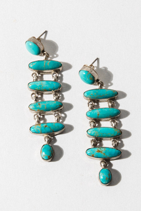 Sunwest Jewelry Turquoise Fortune Seeker Earrings