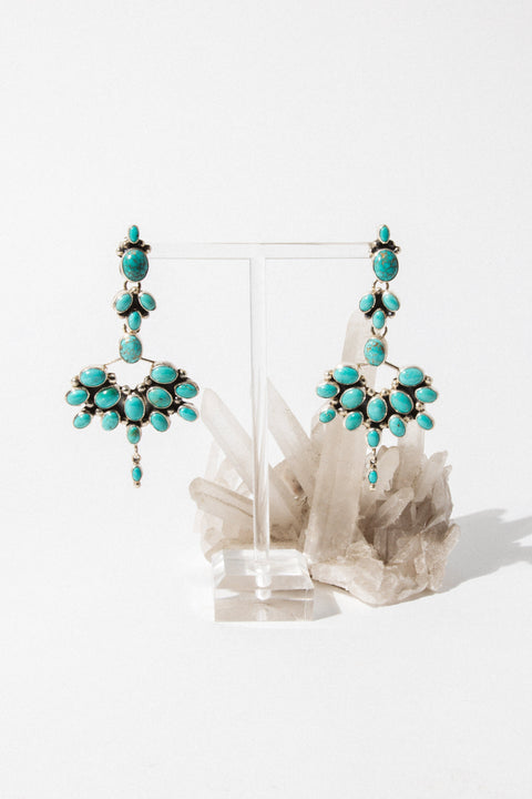 Sunwest Jewelry Silver Turquoise Sunrise Earrings