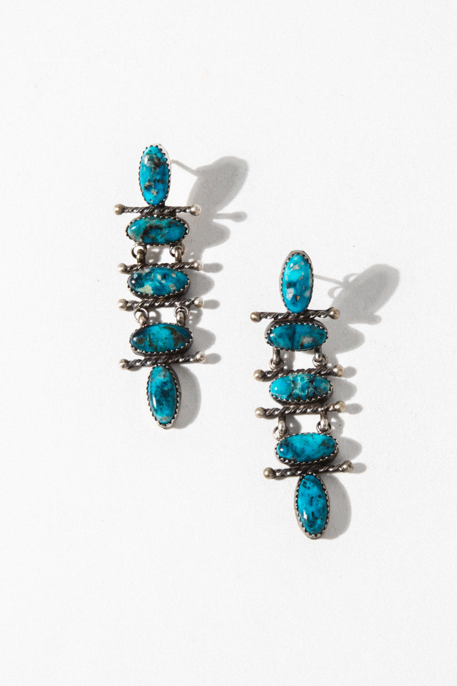 Sunwest Jewelry Turquoise Fallen Sky Turquoise Earrings