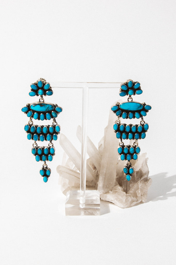Sunwest Jewelry Turquoise Sea Dreamer Earrings