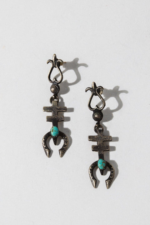 Vintage Native American Jewelry Silver Vintage Native American Blossom Earrings