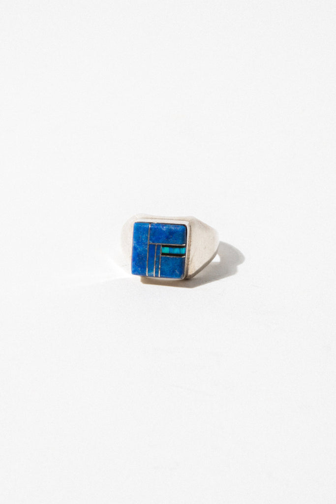 Child of Wild Mens Jewelry US 10 / Silver Vintage Navajo Inlay Ring