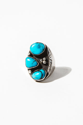 Child of Wild Mens Jewelry US 10 / Silver Raw Turquoise Ring