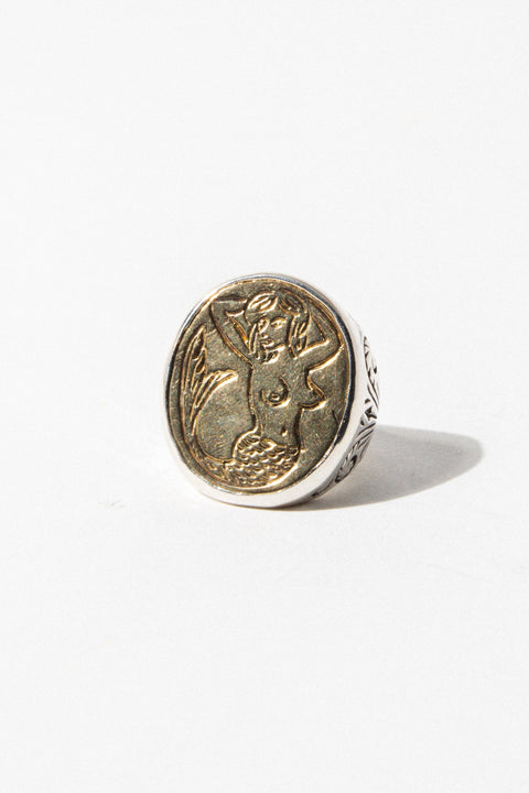 LHN Mens Jewelry Mermaid Signet Ring