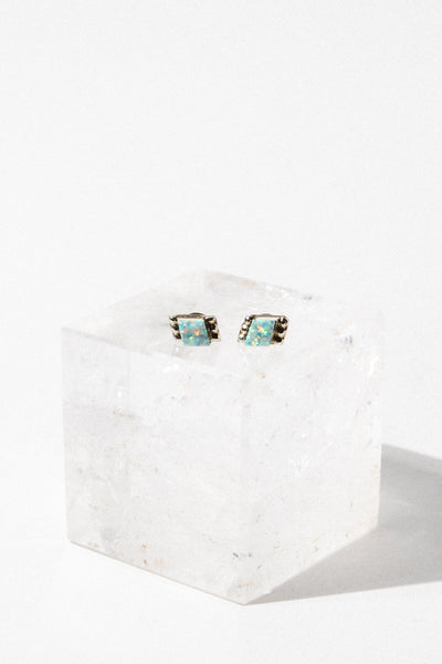 Thunderbird Jewelry Jewelry Opal Dainty Opal Stud Earrings