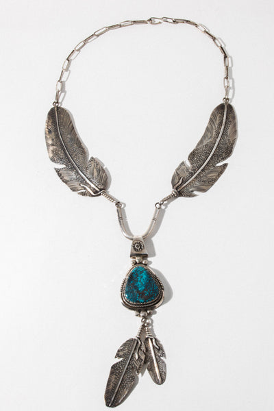 Brian's Boss Jewelry Silver / 24 Inches Soaring Eagle Vintage Native American Necklace
