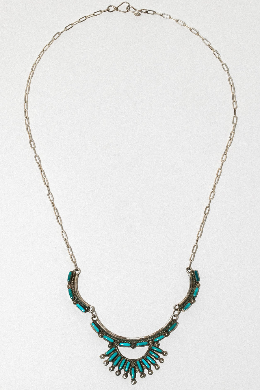 Ayman Jewelry Silver / 19 Inches / Turquoise Chenoa Native American Necklace