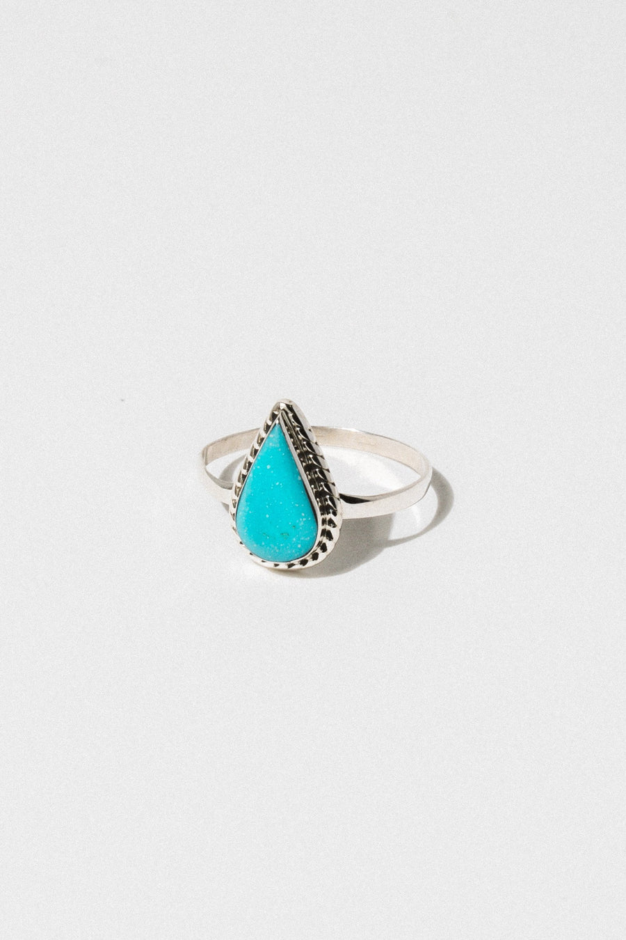 Thunderbird Jewelry Jewelry Turquoise / US 5 Tear Drop Navajo Ring