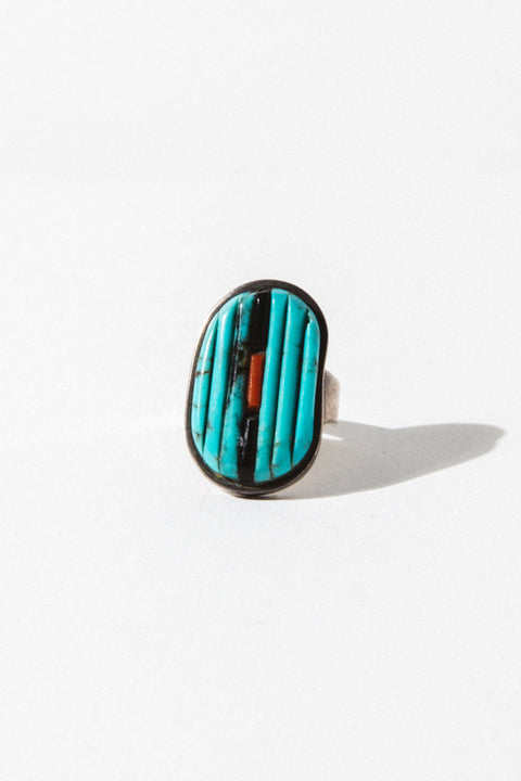 Brian's Boss Jewelry Silver Zuni Tribe Native American Ring