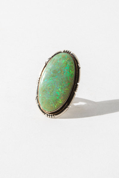 omar Native American Jewelry US 6 / Opal Sunrise Navajo Opal Ring