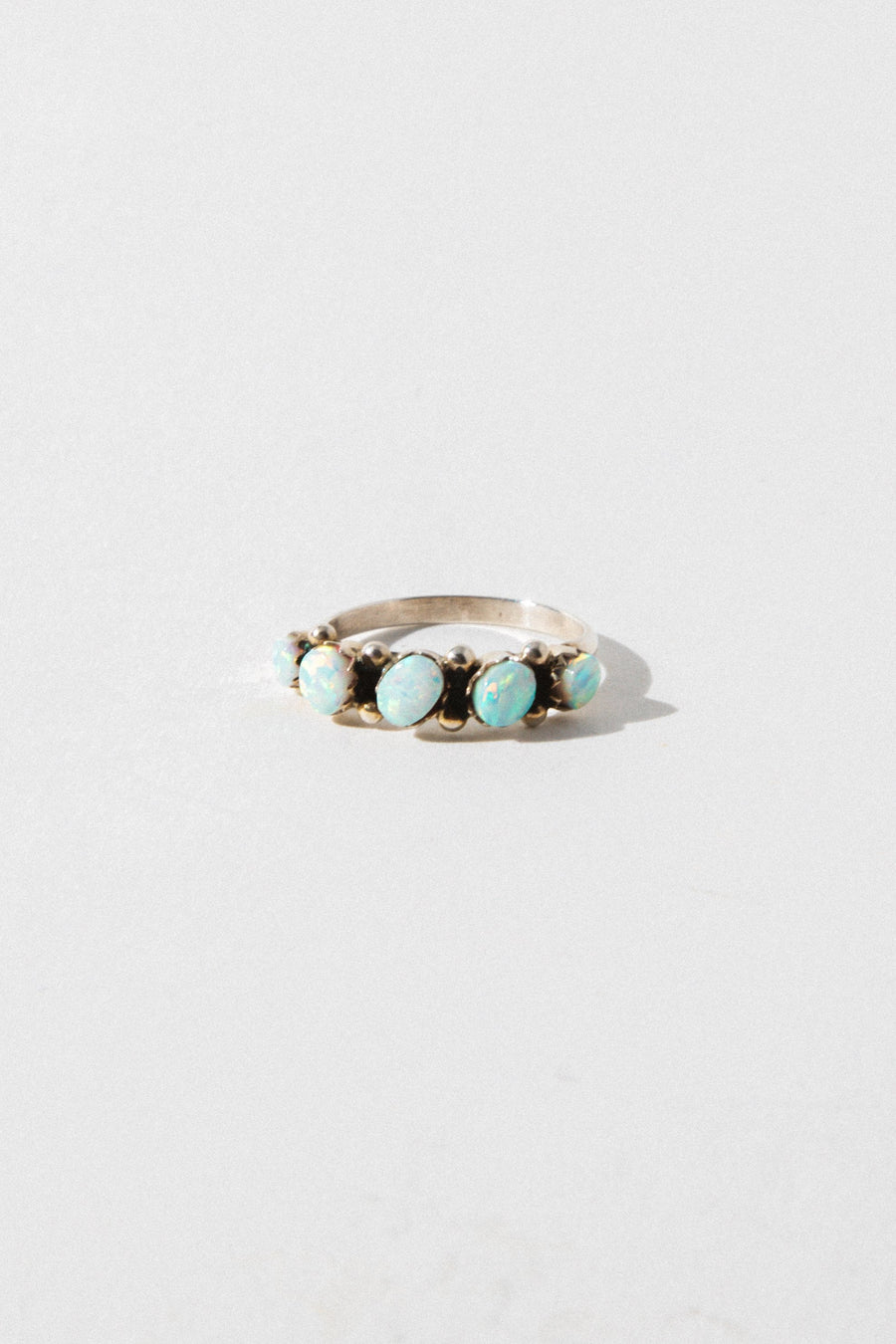 Thunderbird Jewelry Jewelry White Seeing Opal Zuni Ring
