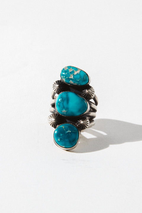 Sunwest Jewelry US 7.5 Waves of Joy Turquoise Ring
