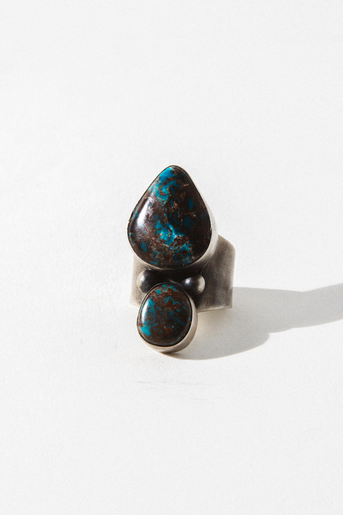 Sunwest Jewelry US 6 / Style 1 Salvation Mountain Turquoise Ring
