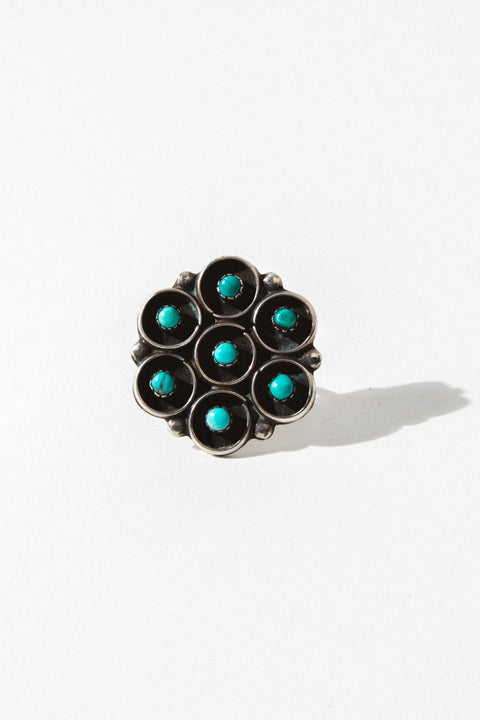 Child of Wild Jewelry Turquoise / US 7.5 Grail Vintage Native American Ring