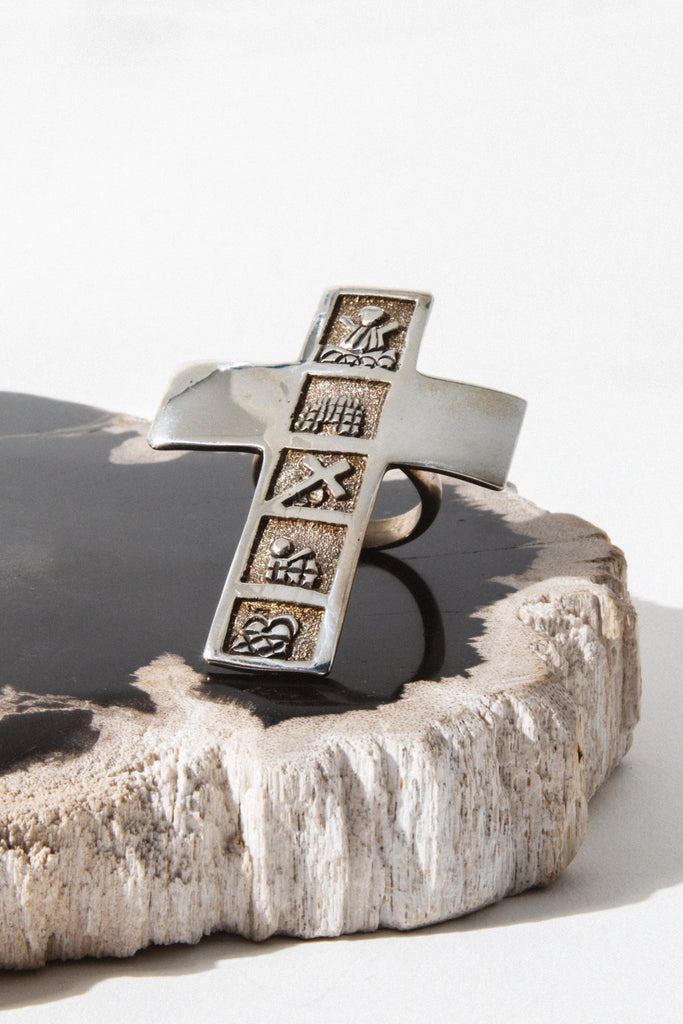 Sunwest Jewelry Silver / US 6.5 Crossing Winds Native American Ring
