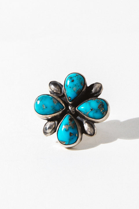 Sunwest Jewelry Silver / US 6.5 Sun Flower Native American Ring
