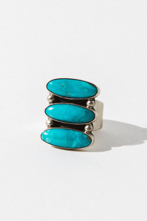 Sunwest Jewelry Azure Turquoise Native American Ring