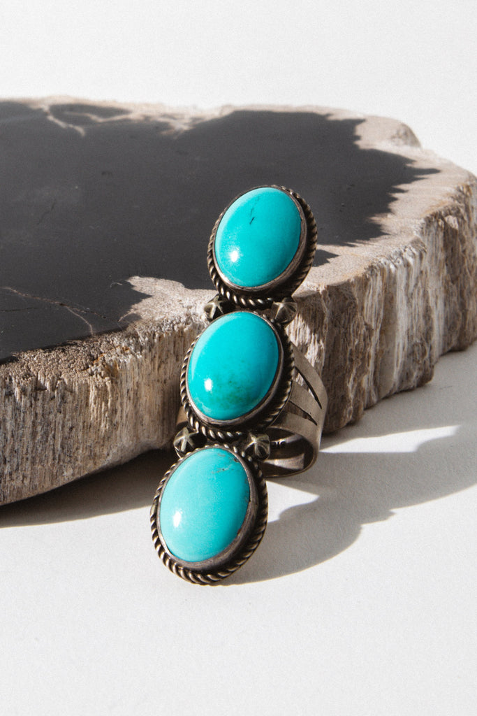 Sunwest Jewelry US 7.5 / Turquoise Nali Native American Ring