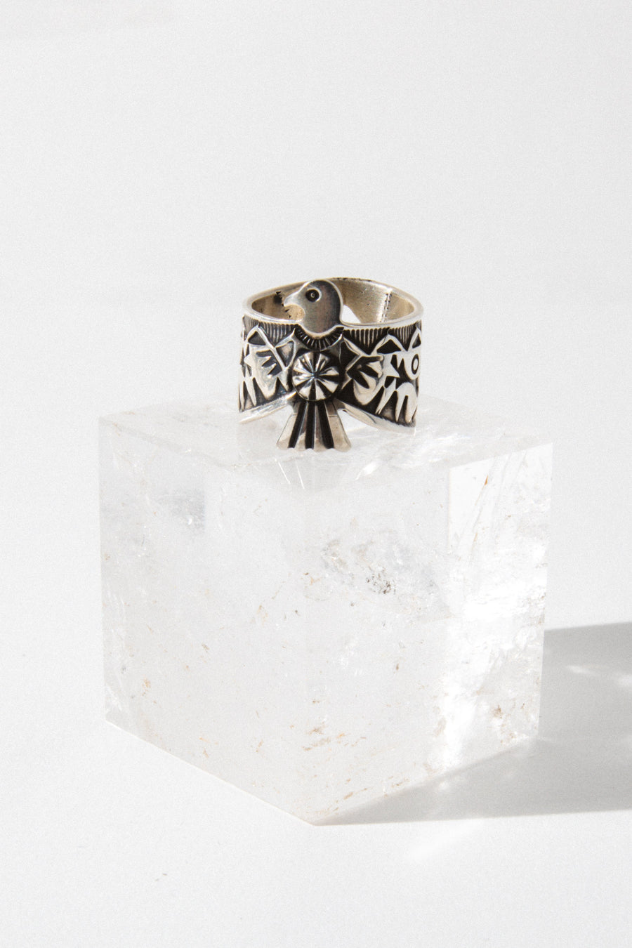 Sunwest Jewelry Silver / US 8 Totem Native American Ring